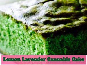 Lemon Lavender Cannabis Cake